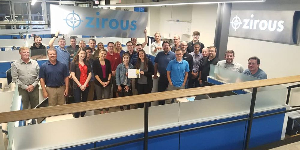 Zirous Team With Top Workplaces Award